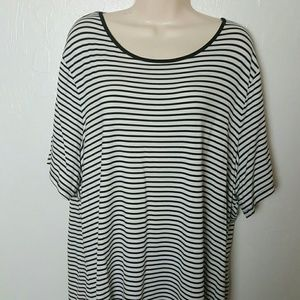 Cable&Gauge top tunic short sleeve stripes size 3x